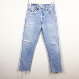 Re/Done x Levi's | High Rise Distressed Jeans